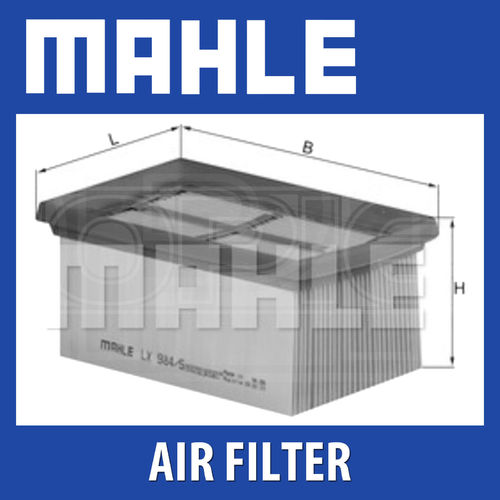Mahle Luchtfilter LX 984/2 (1200GS <'10)