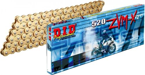 DID 520 ZVM-X Gold-Gold 120 links (790 Adventure)